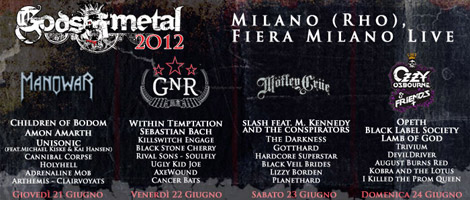 Locandina Gods Of Metal 2012 - 470 x 200